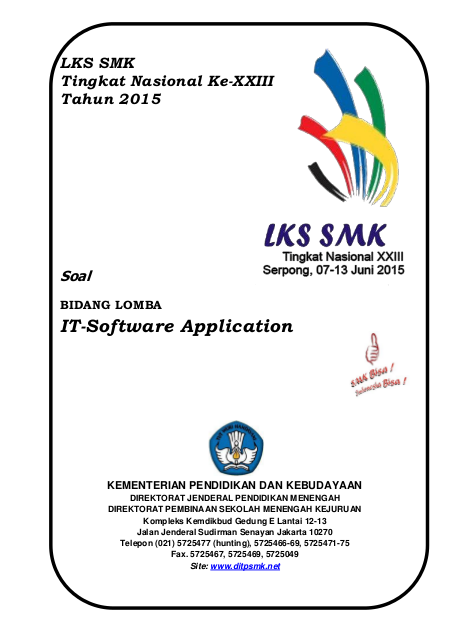 LKS 2015 IT Software Application